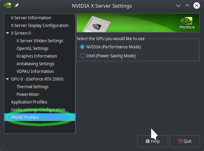 Use Nvidia Settings